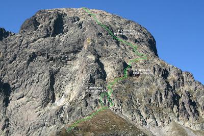 Midi d'Ossau - chimeneas 2